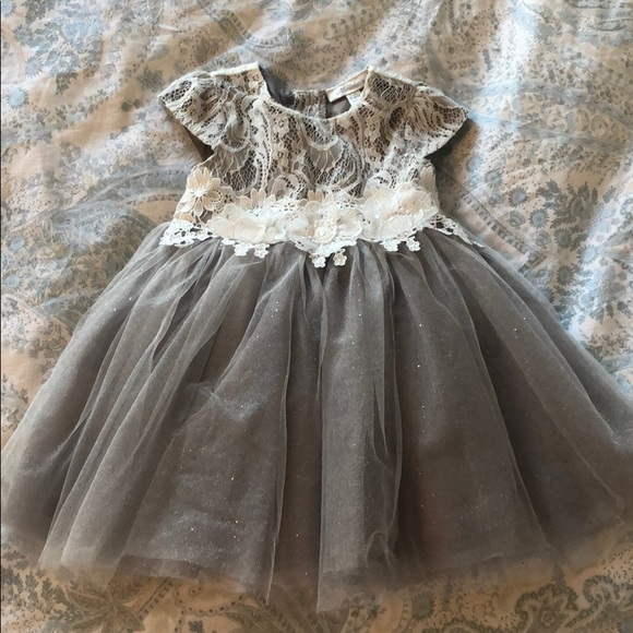 Neiman Marcus Baby Girl Gray Tulle And Lace Dress Poshmark